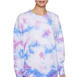 Betsey Johnson Tie Dye Oversized Sweatshirt
